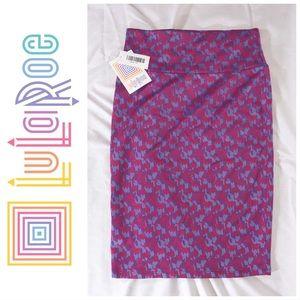 NWT Lularoe Cassie Abstract Print Pencil Skirt